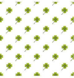 Green leaf clover pattern vector