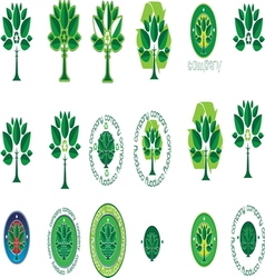 green tree resize vector image