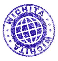 Grunge textured wichita stamp seal vector