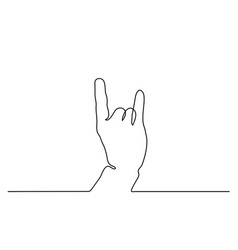 Hand showing sign horns vector
