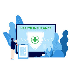 health insurance healthcare business vector image