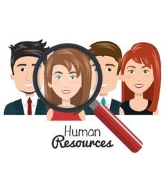 Human resources people choose flat design vector