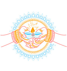 Indian holiday wedding vector