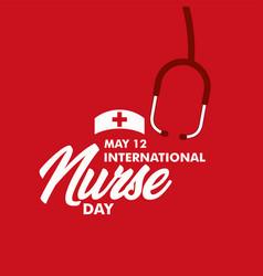 International nurse day template design vector
