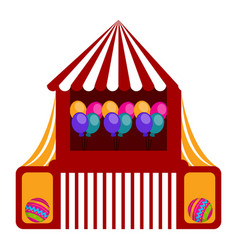 isolated carnival tent icon vector image