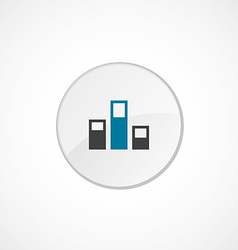 levels icon 2 colored vector image