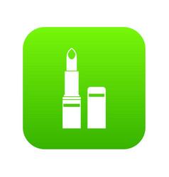 Lipstick icon digital green vector