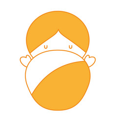 Little cute baby icon vector