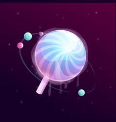 Lollipop cartoon planet vector