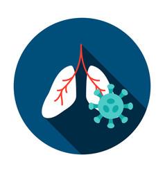 lungs coronavirus circle icon vector image