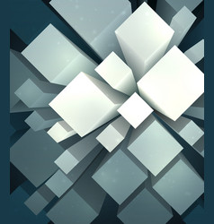 mess of cubes vector image