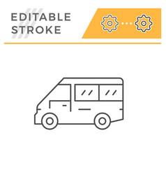 mini bus line icon vector image
