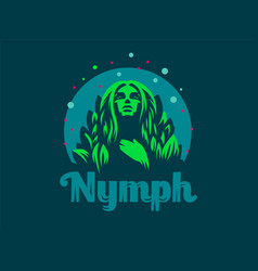 nymph emblem vector image