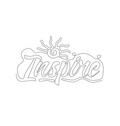 one single line drawing cute and inspiring vector image