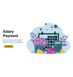 Payroll salary payment administrative accountant vector