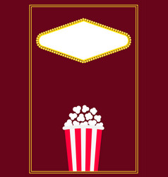 popcorn movie night cinema icon pop corn food vector image