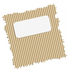 ripped cardboard with tag vector image