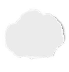Ripped rounded paper tear isolated on white vector