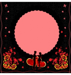 romantic card with ornate flow vector image