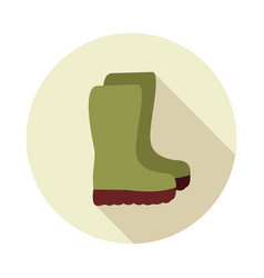 rubber boots gumboots wellies flat icon vector image