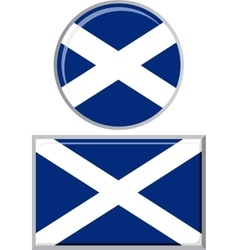 Scottish round and square icon flag vector image