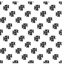 seamless maya pattern black and white ethnic vector image