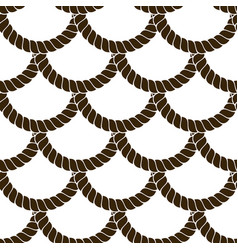 Seamless pattern rope woven abstract background vector