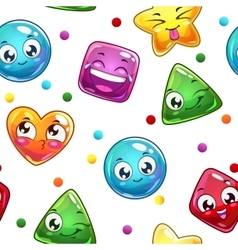 Seamless pattern with funny colorful faces vector