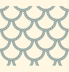 seamless scales made of rope cord marine nautical vector image