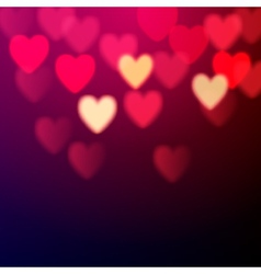 Shiny hearts bokeh vector image