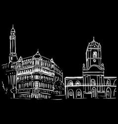 sketch plaza de mayo vector image