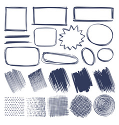 sketch shapes hand drawn monochrome geometric vector image