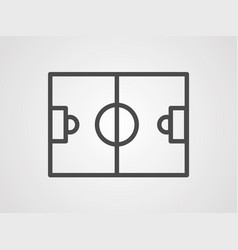 soccer field icon sign symbol vector image