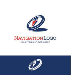 Stylized compass logo vector