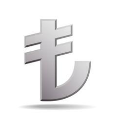 turkish lira sign vector image