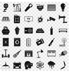 Useful energy icons set simple style vector