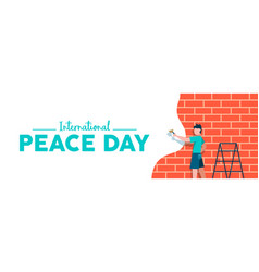 World peace day web banner for children freedom vector