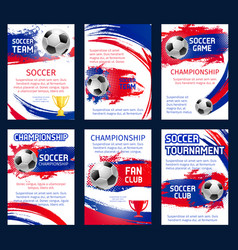world soccer championship posters vector image
