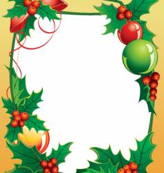 01 frame from christmas holly vector image vector image
