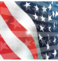 American flag vector image vector image