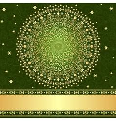 filigree vintage frame vector image vector image