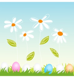 floral easter greeting card vector image vector image