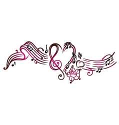 Music notes with clef vector image vector image