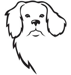 niuf dog head vector image vector image