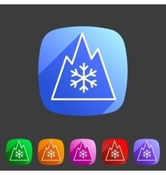 Snow tire Mountain Snowflake Mud symbol icon flat vector image