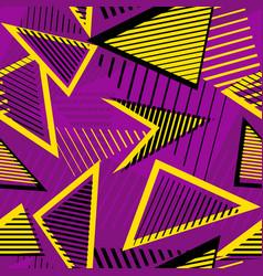 urban art sport abstract seamless pattern vector image