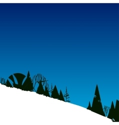with forest in mountains on hill vector image