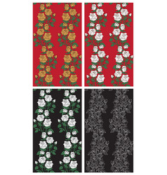 backgrounds roses on black and red vector image vector image