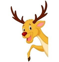 Cute deer head cartoon vector image vector image