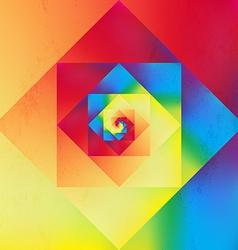 Vibrant optic art geometric pattern vector image